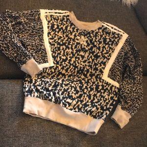 Cute Leopard Adidas Sweatshirt 💛🌻